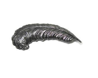 Vintage Silver Feather Brooch