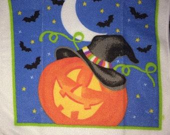 Halloween Pumpkin and Bats  Crochet Top Towel  (H2)
