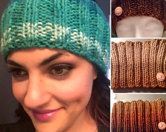 Knitted Ear Warmer Headband