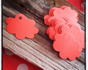 set of 50 clear Red Cloud labels