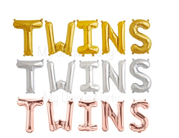 Twins Letter Balloons Air Fill Only Twins Balloon Banner Its