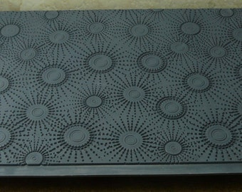 SUN SPOTS Embossed  Line Rubber Clay Texturinzing Stamp  MGT210
