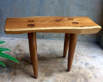 Rustic teakwood stool
