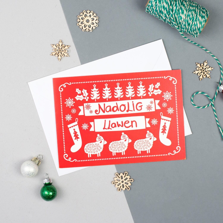 Nadolig llawen christmas card welsh christmas card welsh description a bold and fun christmas card kristyandbryce Image collections