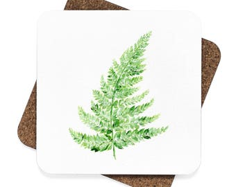 Fern Coaster Set of 4, fern coaster, leaf coaster, fern coasters, fern painting, leaf coasters