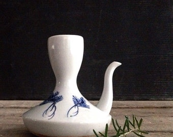 Antique Porcelain Japanese Sake Pourer with Spout, Blue and White, Uncommon, Asian, Ethnic, Ceramics