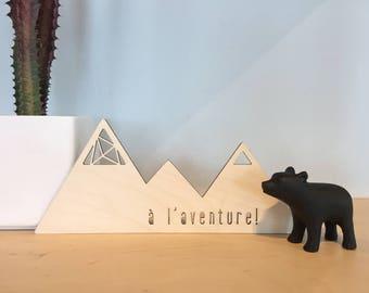 Mountains - Wood Decorative Accent - Home Decor - Decorative Accents - Scandinavian Style