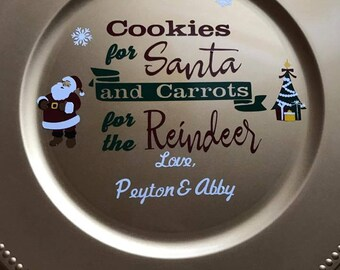 Custom cookies for santa plates