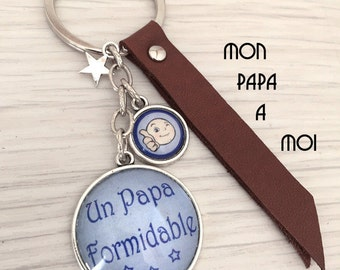 man theme message Keychain a great Dad. REF.53