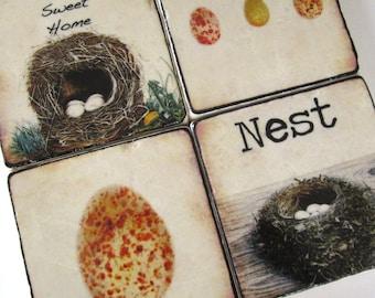 Nesting  - stone coasters (set of 4)