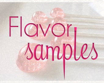6 Mini Lollipop Flavor Samples-Choose One Flavor, Hard Candy Lollipops, Candy Lollipops, Favors, Wedding