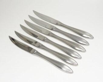 Mid Century Viking Japan All Clad Cast Stainless Steel Steak Knives Japan Steak Knives Japanese Cutlery Serrated Knives Steel Steak Knives