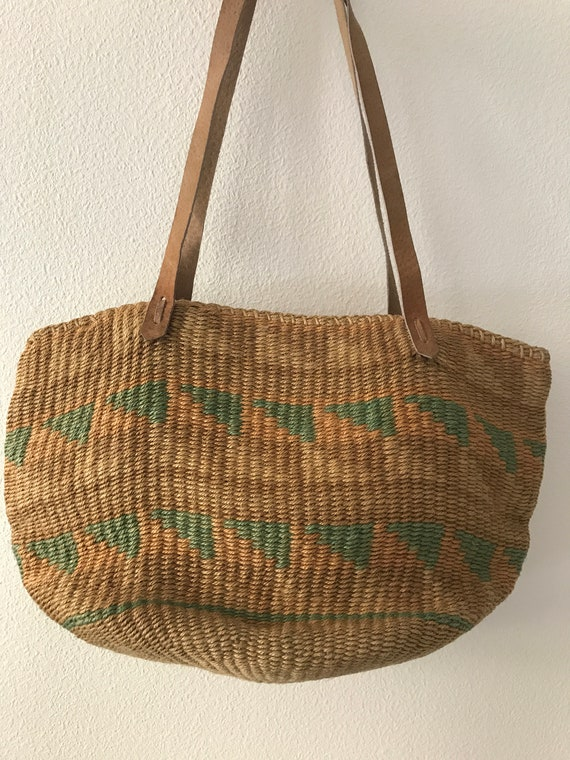 Vintage rope shoulder bag |  beach bag | vintage rope bag |vintage shopping bag | vintage bag | summer bag