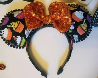 Halloween Cupcake Mouse Ears