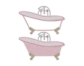 Bath Tub machine embroidery design