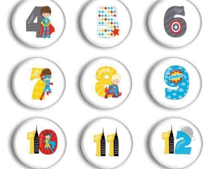Superhero numbers 1 - 30 - Number Magnets - Classroom Set Up - Preschool Learning - Number Practice - Teacher Gift - Educational