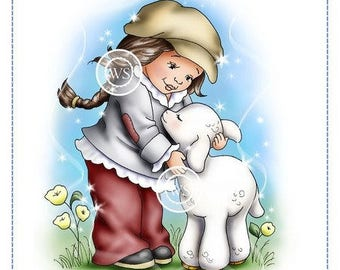Whimsy Stamps --  Lamb Hugs -- NEW -- (#2279)