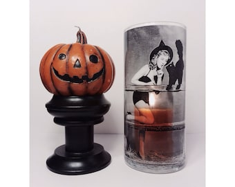 Halloween Pin Up Witch Vase Candle Holder