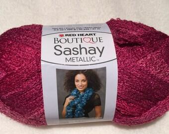 Pink Topaz Sashay Ruffle Yarn ~ Sashay Ruffle ~ Pink Ruffle ~  Red Heart Boutique Sashay Ruffle Scarf Yarn ~ Pink ~