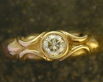 Diamond and 14K Gold Ring