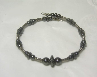 "Cynthia Lynn ""MAGNETIC"" Black Hematite Beaded Minimalist Stacking Bracelet"