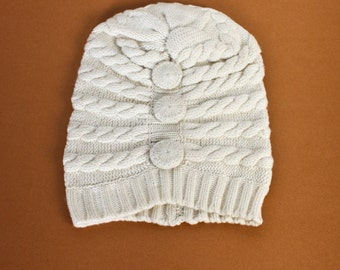Natural Bella Cashmere Hat