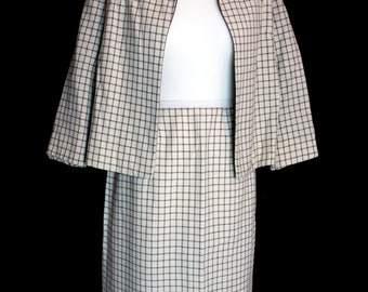 Original Vintage 1950's Skirt Suit by Courtelle, London Town, Size M