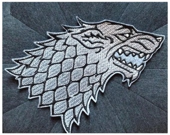 Grand écusson Loup Stark Game Of Thrones