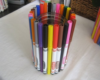 Upcycled markers vase, pencil holder, teachers gift, graduation gift