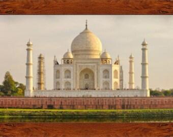 Taj Mahal Panorama Framed