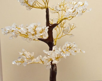 Clear Quartz Crystal Tree  8 1/2 inches tall! Crystal Healing! Makes a great gift!