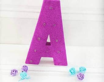 Marquee light letter, glitter light letter, marquee letter, wedding letter, wedding decor, party decor, nursery decor, home decor