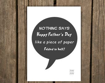 Funny Father's Day Card | Sarcastic Father's Day Card | Funny Card for Dad