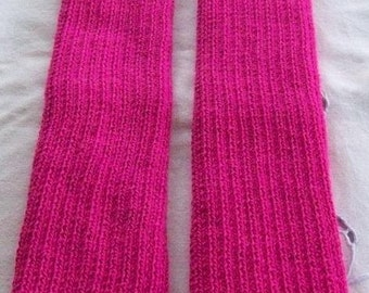 Hot Pink Legwarmers, boot socks, exercise knitwear, exercise legwarmers, Dance Legwarmers.