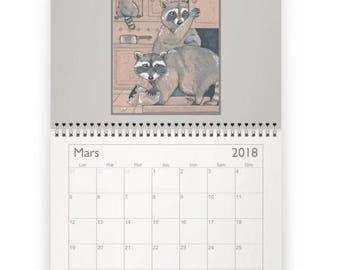 Wall calendar featuring 2018 + 1 free card