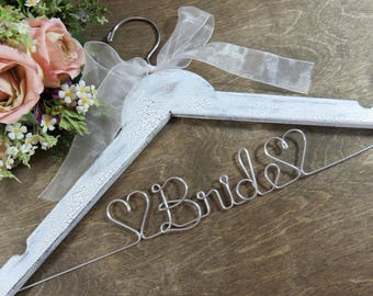 Bride Hanger Wire Wedding Dress Hangers Bridal Accessories Personalized Bridal Hangers Wedding Photo Props