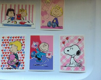 Vintage Hallmark Peanuts Valentines cards unused+env lot of 5