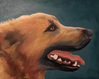 Custom Painted Pet Portrait