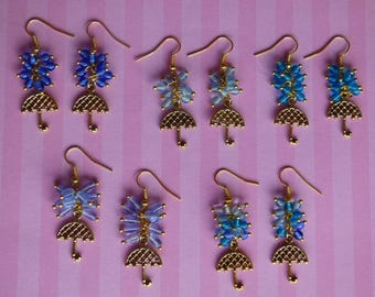 Golden umbrella earrings