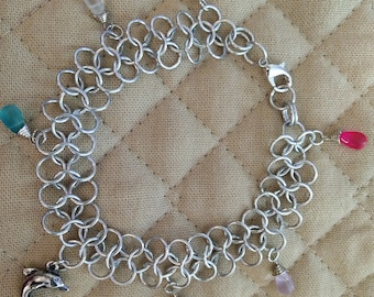Sand Glass Charm chainmail anklet