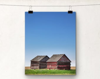 Rustic Photography, Rural Alberta Canada, Red Granary, Country Farming
