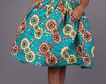 Asymmetrical African Cocktail Dress