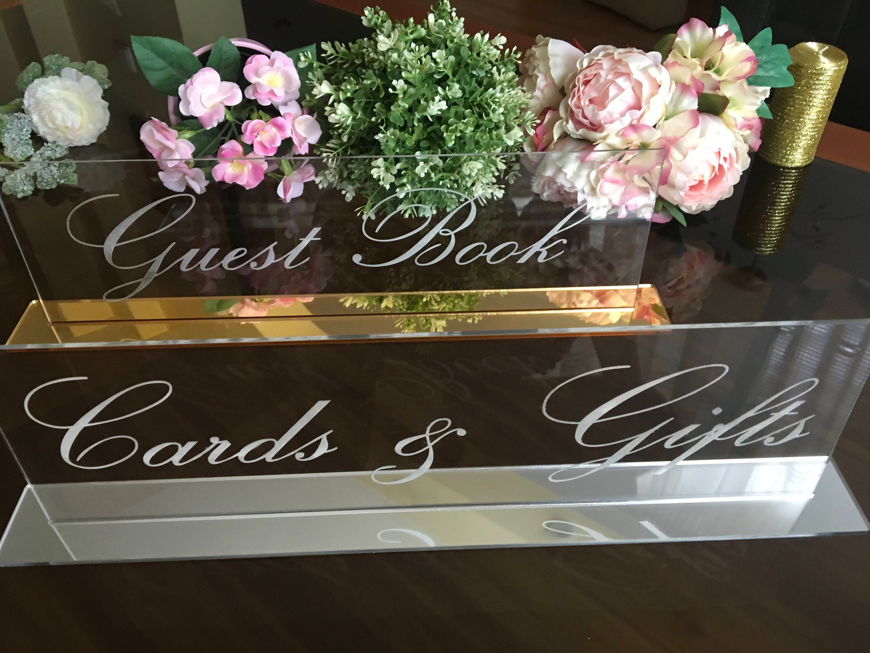Alternative Wedding Gifts: Cards And Gifts Guestbook Alternative Wedding Signs Clear