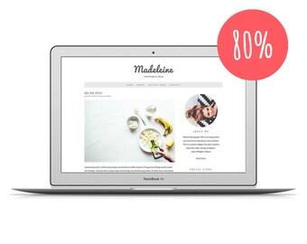 "80% OFF - Wordpress Theme ""Madeleine"" - Food Wordpress Theme - Premade Template for Food Blogger"