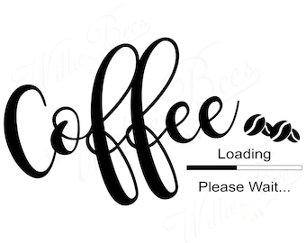 Coffee SVG, Coffee Loading, Coffee Beans, Roasted Coffee, Brewed Drink, Roasted Beans, Beverage, Dried Coffee Seeds, Instant Download