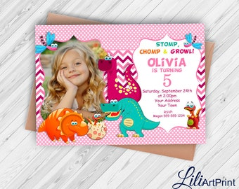 Dinosaur Birthday Invitation, Dinosaur Invite, Dinosaur Birthday Party, Digital file, Dino 11
