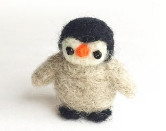 Miniatures Little baby penguin Needle felted penguin - felt penguin needle felt baby animals - needle felted toys - collectables - handmade