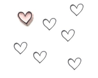 Heart Rubber Stamp | 011062