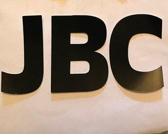 Adhesive vinyl initials