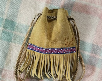 Vintage Leather Trinket Bag